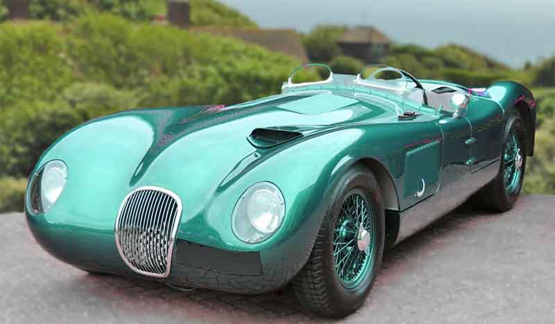 The Jaguar C Type Racing Car